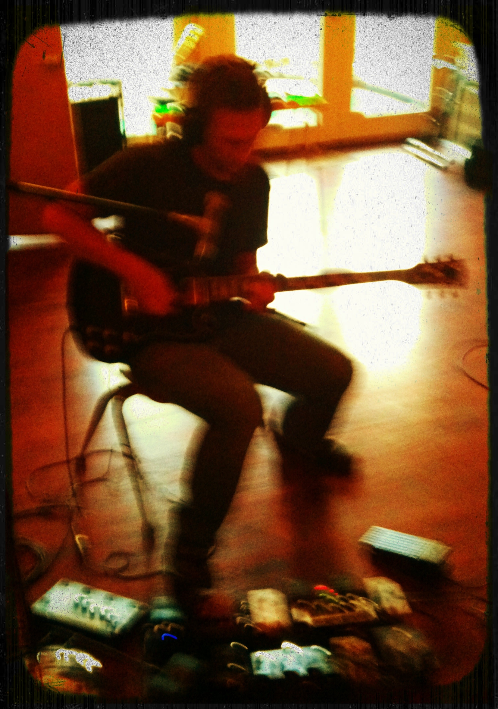 Blurry Tracking Guitar